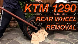 KTM - 1290 Super Duke - REAR WHEEL REMOVAL.