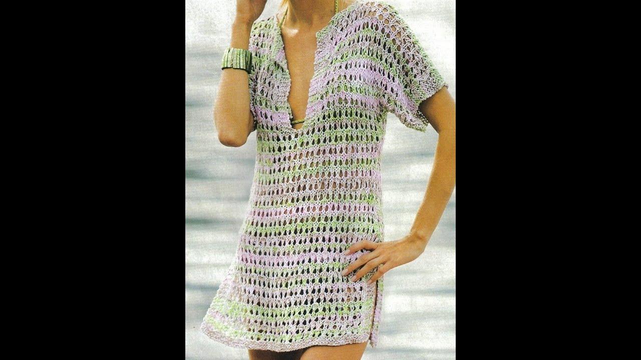 Gráficos para tejer túnica multicolor - YouTube