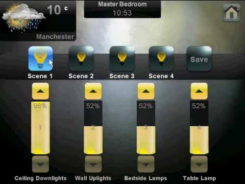 crestron lighting control by www customcontrols co uk youtube