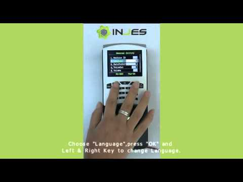 Device Setting of INJES MYM7 fingerprint access control