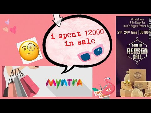 Huge Myntra End Of Reason Sale Haul/ Spent 12000 Rs On Myntra🙄😏🧐🤔 See What I Got👗👕💄👠👟👜📿