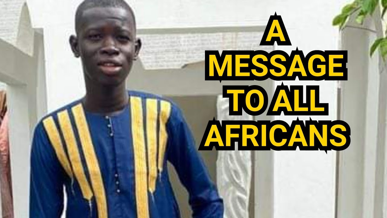 WOW! Every African MUST listen to what this young man had to say.