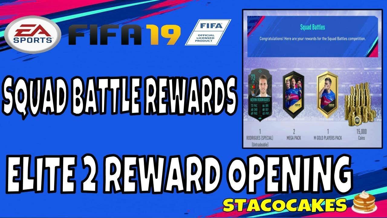 Fifa 19 Squad Battles Rewards fifa 19 squad battle elite 2 reward pack opening kevin rodrigues fut swap  deal player item included