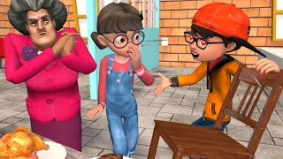 Scary Teacher 3D - Nick The Best GENTLEMEN with Tani and Miss T - BuzzFamily