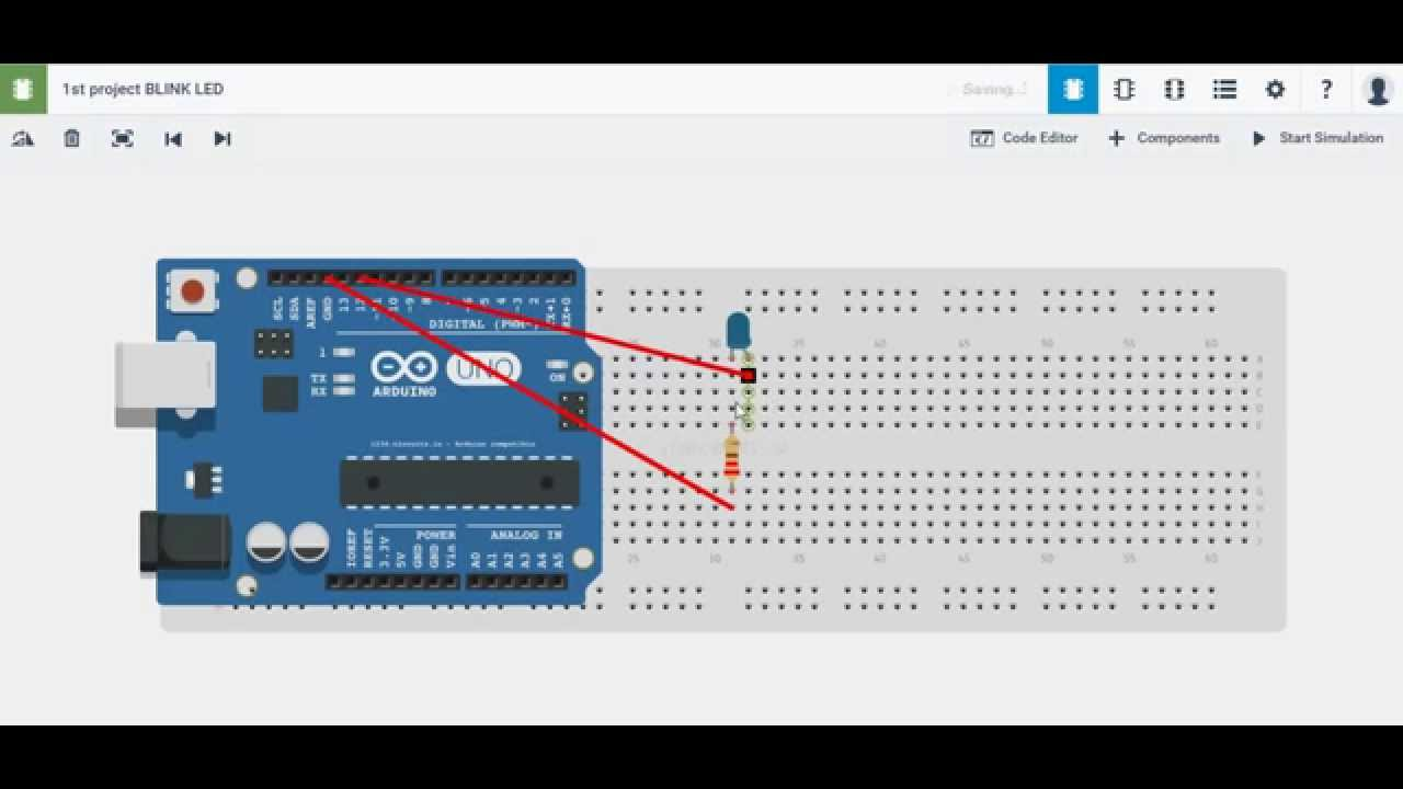 Https 123d Circuits Io Arduino Simulator Online Youtube