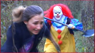 A Clown Jumps Out of The Cornfield With a Shovel