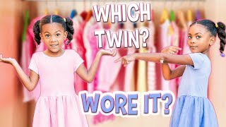 WHICH TWIN WORE IT? GUESS! | BACK TO SCHOOL SHOPPING!