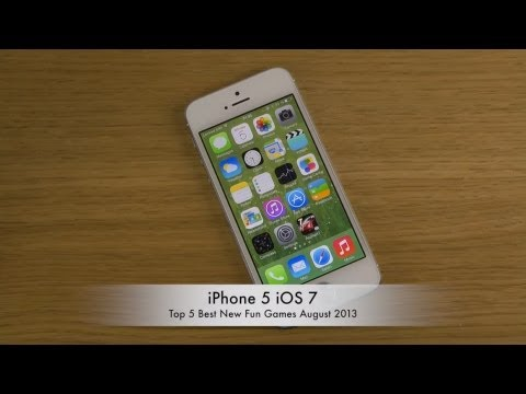 Top 5 Best New Fun Games August 2013 iPhone 5 iOS 7 HD Gameplay Review