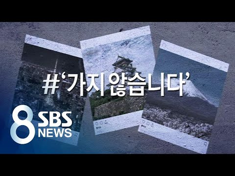 """""""일본 안 가요"""" 관광객 반토막…'아베 목표' 타격 전망 / SBS"""