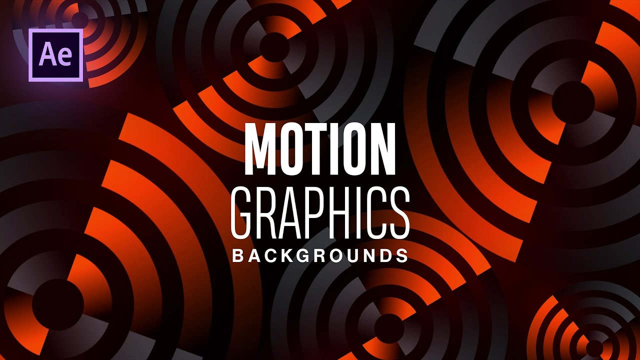 Animated Motion Graphics Backgrounds in After Effects - After Effects Tutorial