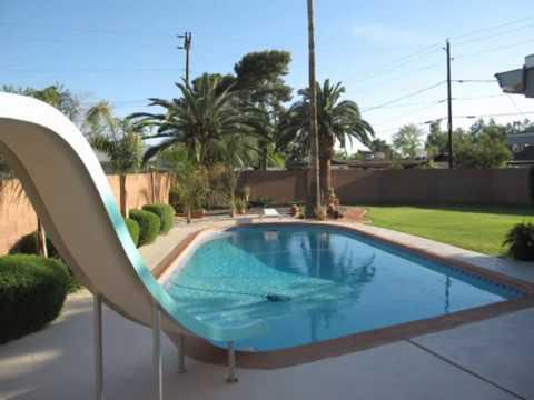 Bedroom Bath Pool With Slide Diving Board Phoenix Az Youtube
