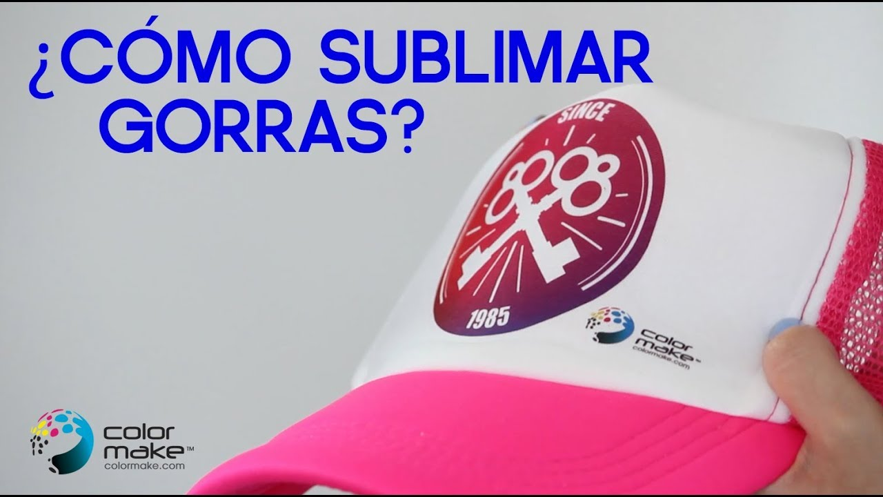 023d26e09d40c Cómo sublimar Gorras Trucker con nuestro equipo Color Make™  - YouTube