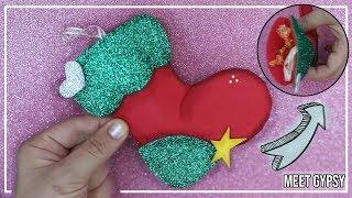 Bota navideña de goma eva + MOLDES // Calcetín Navideño Fácil // Bota de navidad con foami