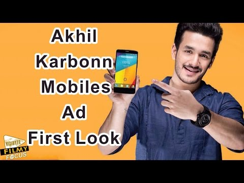 First Look of Akhil Endorsing Karbonn Mobiles....!!!