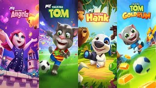 My Talking Angela New Update - My Talking Tom vs My Talking Hank vs Talking Tom Gold Run World Cup 2