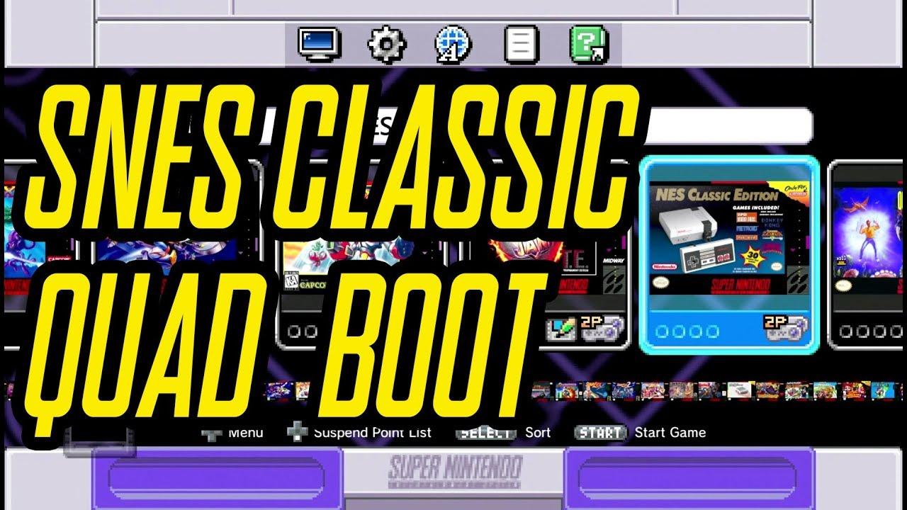 SNES Classic Quad Boot - NES, Famicom & Super Famicom