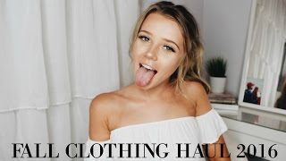 FALL CLOTHING HAUL 2016