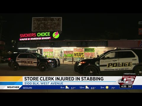 SAPD: Teen stabs store clerk multiple times during robbery at smoke shop