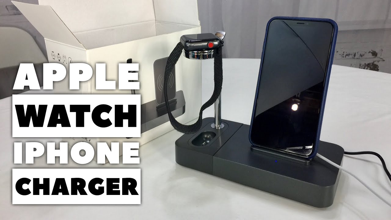 Apple Watch Earpods Iphone Aluminum Wireless Charger Stand Holder Review Youtube