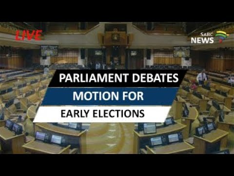 Parliament debates motion for early elections