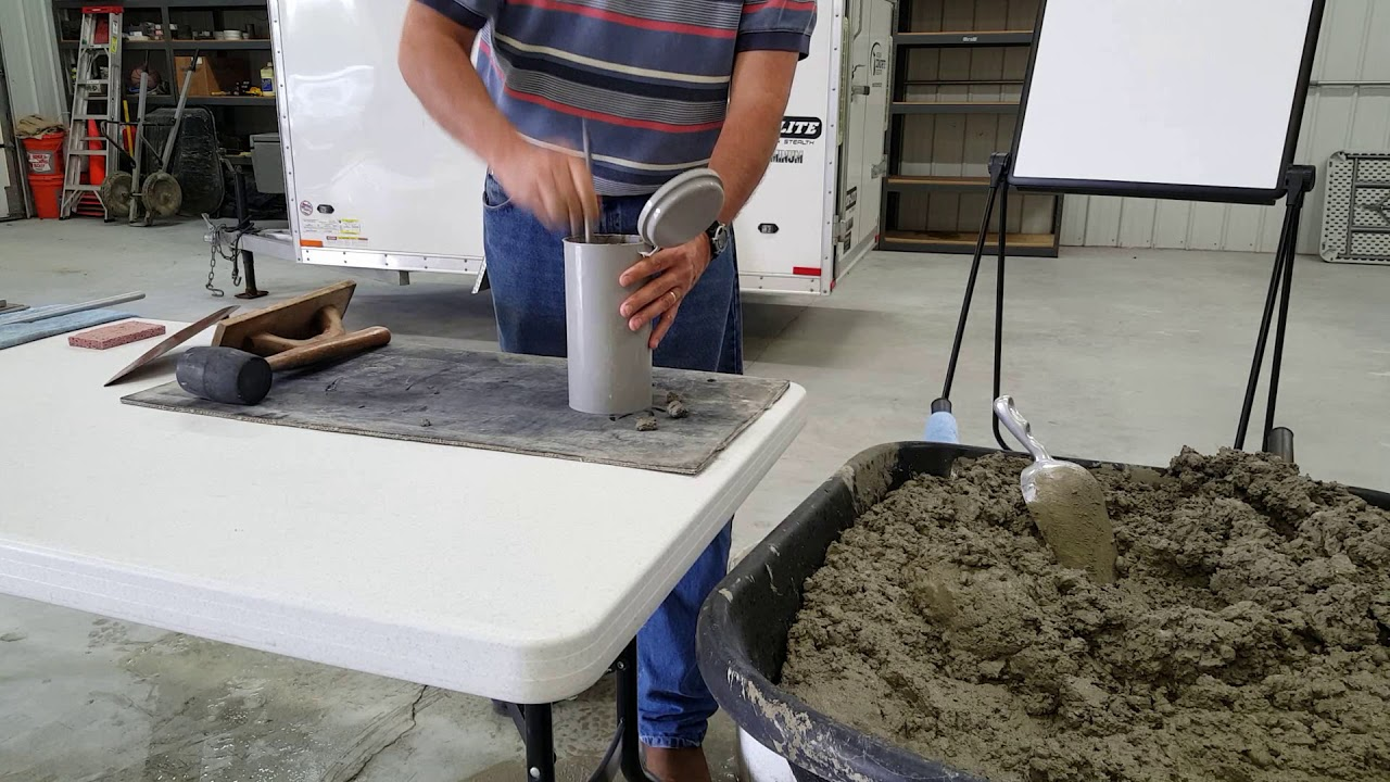 ASTM C31 Making Concrete Test Cylinders