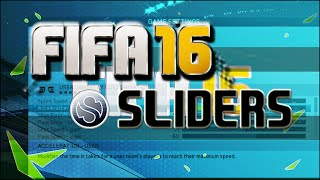 FIFA 16 Sliders - Final Set - with Preferenes