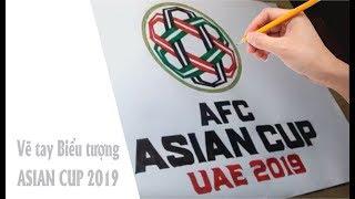Vẽ tay logo asian cup 2019 - Việt Nam vô địch