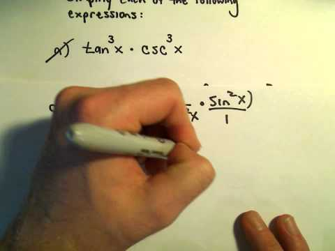 Simplifying Trigonometric Expressions Using Identities, Example 2