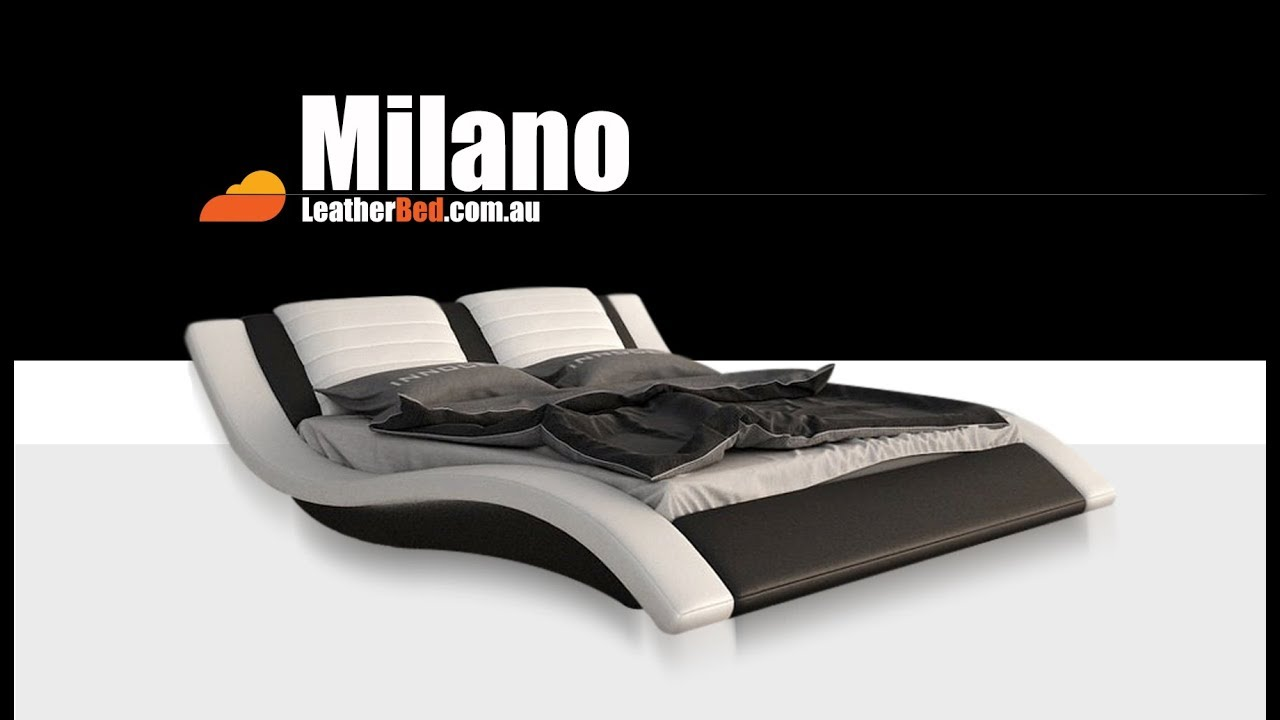 Milano Leather Bed Frame Modern Futuristic Youtube