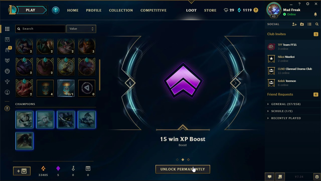 League Of Legends Xp Boost