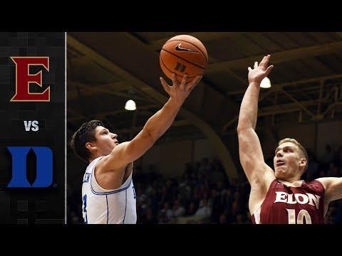 Elon vs. Duke Basketball Highlights (2017)
