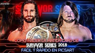 COMO HACER LA MATCH CARD DE WWE SURVIVOR SERIES 2018