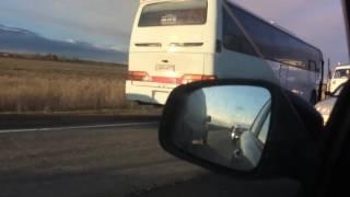 Появилось видео страшной аварии на трассе Челябинск — Курган