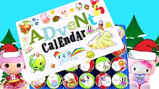 TOY ADVENT CALENDAR MyLittlePony Hello Kitty Peppa Pig Disney Princess TMNT How To Tutorial