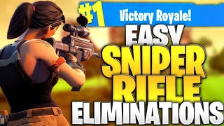 How To Get Easy Sniper Rifle Eliminations In Fortnite Battle Royale