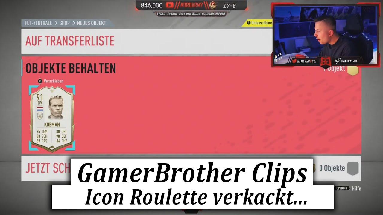 Wenn man das ICON ROULETTE VERKACKT.... 😂🤣 | GamerBrother Clips