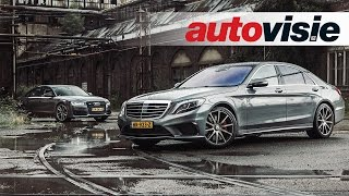 Audi S8 Plus versus Mercedes-AMG S 63 Review - By Autovisie TV