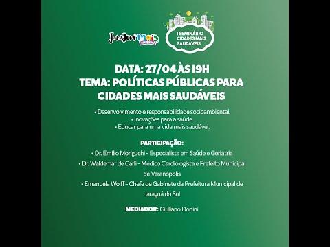 1º Dia - Políticas Públicas para Cidades Mais Saudáveis