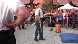 As seen in Guinness World Records Book 2014! Erik Kloeker Breaks Axe Juggling World Record