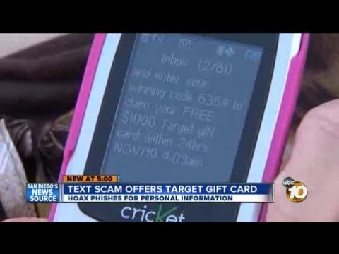 Text message scam offering $1,000 Target gift card