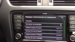 Activation automatique park pilot skoda octavia 3