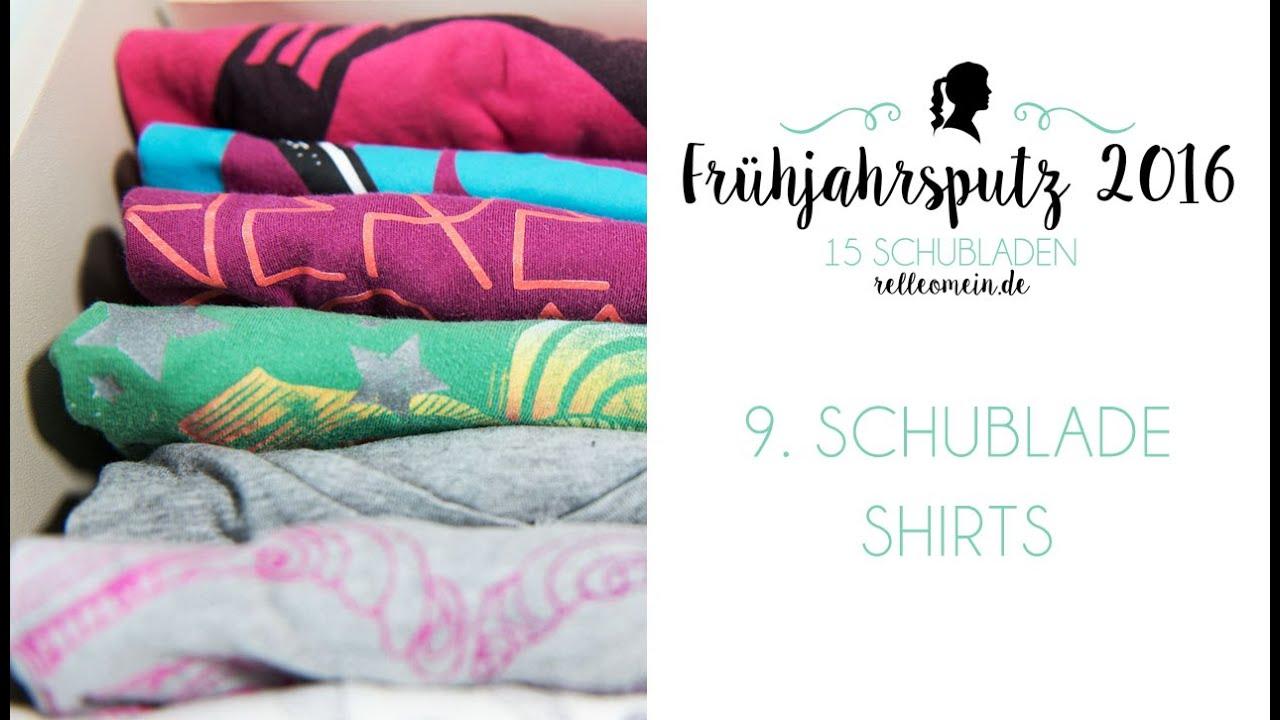 Fruhjahrsputz 2016 Kleiderschrank Organisieren T Shirts 9