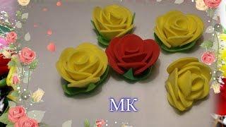 МК роза из фома