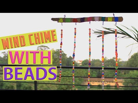 DIY Wind Chimes   How to make Wind chimes with beads   Home Decor Ideas