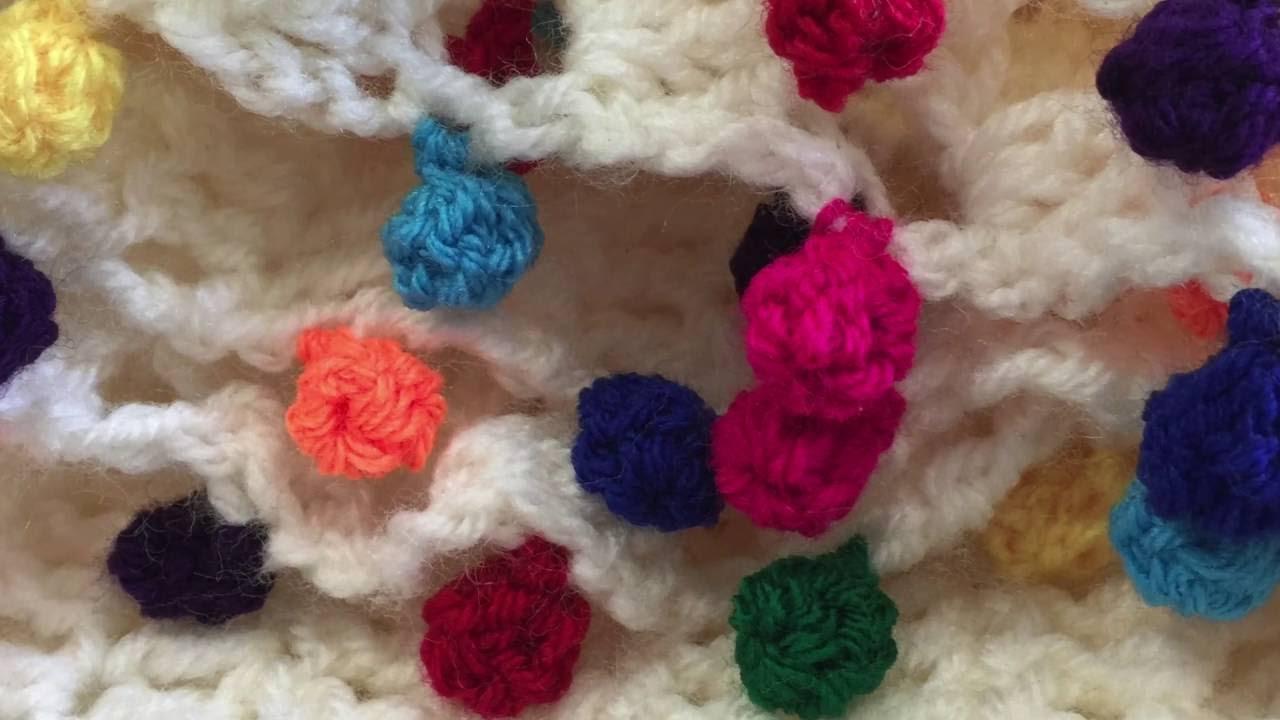 Rainbow Crochet Pompom Edging Tutorial Youtube