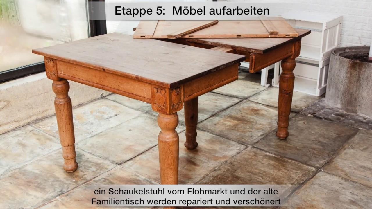 renovierungsserie teil 5 – möbel restaurieren und verschönern - youtube