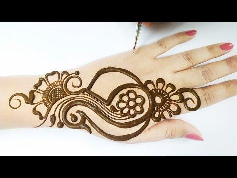 सीखे ! 5 नंबर से मोर की मेहँदी कैसे बनाते हैं - Eid Special Full Hand Peacock Mehndi Design