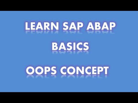 SAP ABAP- OOPs Concepts