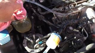 Промывка системы питания дизельного двигателя на Passat B6