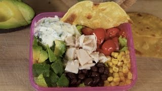 Back To School Chicken Tostada Salad With Rubbermaid